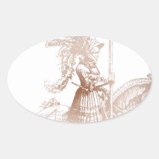 Knight in Shining Armor Oval Sticker