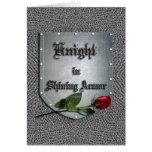 Knight in Shining Armor Rose Card
