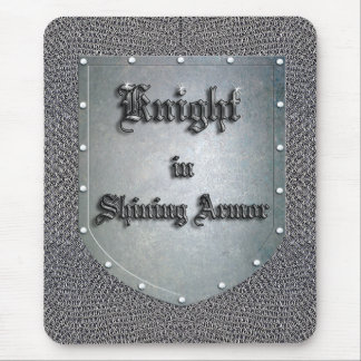 Knight in Shining Armor Shield Mouse Pad