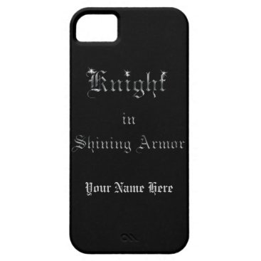 linda_mn Knight in Shining Armor Silver Look Text iPhone SE/5/5s Case