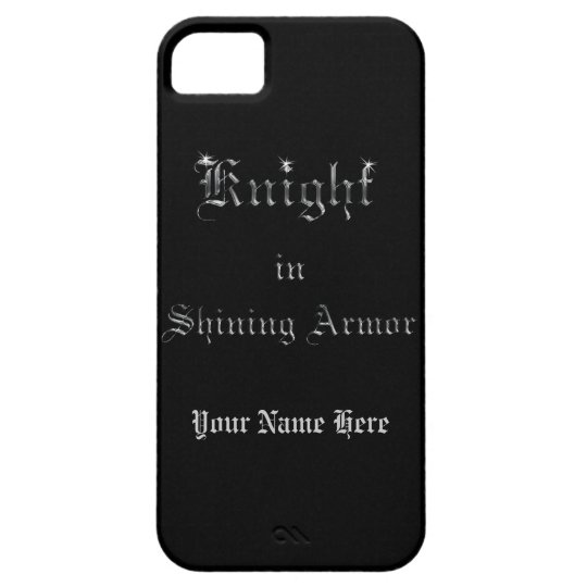 Knight in Shining Armor Silver Look Text iPhone SE/5/5s Case