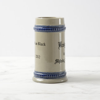 Knight in Shining Armor Text Beer Stein