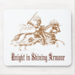 knight in shining armour mouse pad