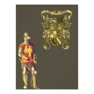Knight in Suit of Armor 5.5x7.5 Paper Invitation Card