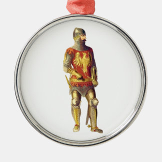Knight in Suit of Armor Metal Ornament