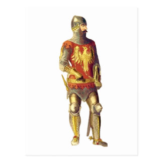 Knight in Suit of Armor Postcard
