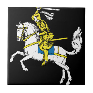 Knight in Yellow Armour Ceramic Tile