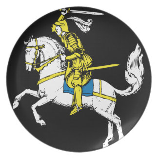 Knight in Yellow Armour Dinner Plate
