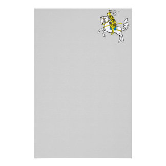Knight in Yellow Armour Stationery