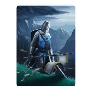 Knight invitation/postcard card