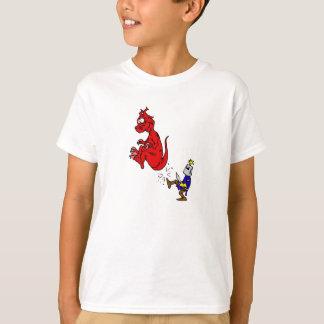 Knight Kicking Dragon T-Shirt