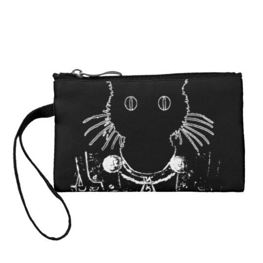 knight kitty cat coin purse