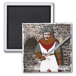 Knight Medieval Warrior - with YOUR Photo - Text - Magnet