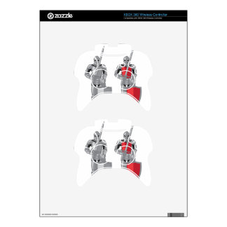 Knight metal red vector xbox 360 controller decal