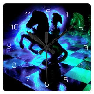 Knight Moves Square Wall Clock