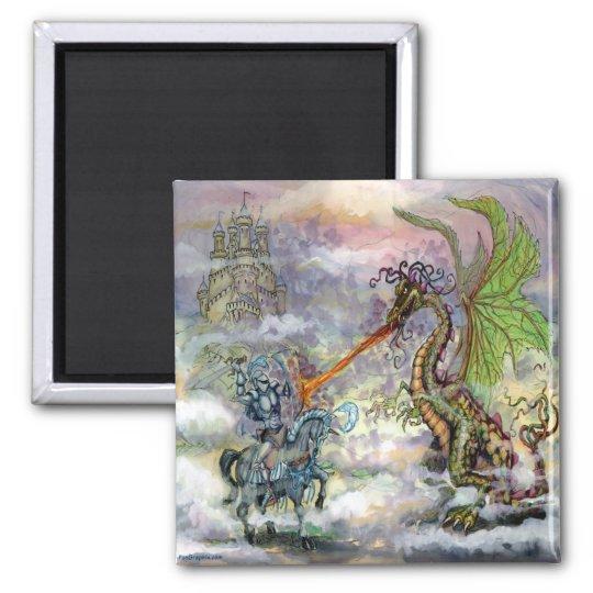 Knight n Dragon Magnet