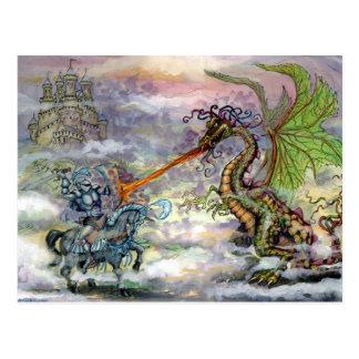 Knight n Dragon Postcard