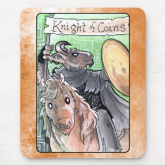 Knight of Coins Mouse Pad