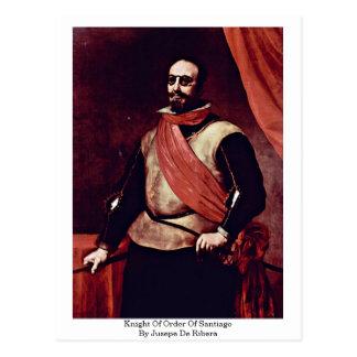 Knight Of Order Of Santiago By Jusepe De Ribera Postcard