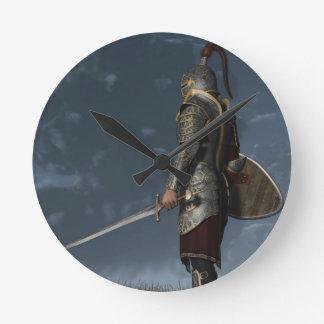 Knight of the Storm Round Wallclock