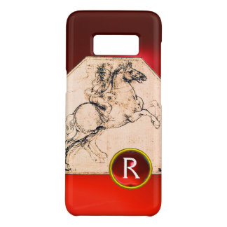 Knight on a Rearing Horse Red Ruby Gem Monogram Case-Mate Samsung Galaxy S8 Case