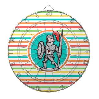 Knight on Bright Rainbow Stripes Dartboards