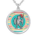 Knight on Bright Rainbow Stripes Jewelry