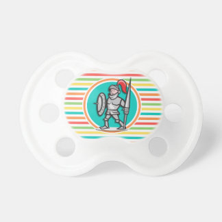 Knight on Bright Rainbow Stripes BooginHead Pacifier