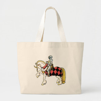 Knight on His White Horse Large Tote Bag