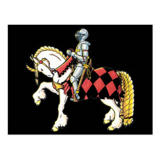 Knight on His White Horse Postcard