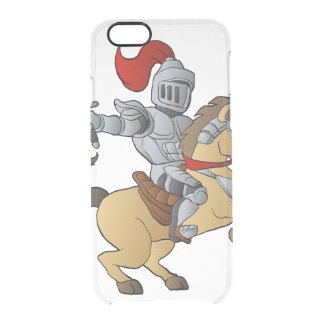 Knight on Horse Clear iPhone 6/6S Case
