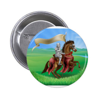 Knight on Horse in Field 2 Inch Round Button