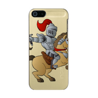 Knight on Horse Metallic Phone Case For iPhone SE/5/5s