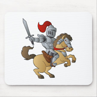 Knight on Horse Mouse Pad