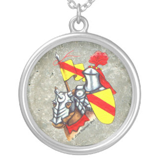 Knight on Horse Custom Necklace