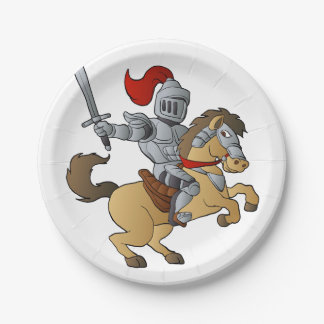 Knight on Horse Paper Plate
