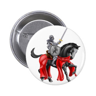 Knight on Horse Pinback Button