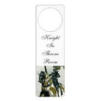 Knight On Horseback Door tag Door Hanger