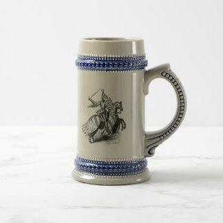 Knight on Horseback 18 Oz Beer Stein
