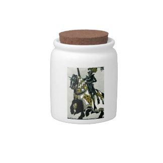 Knight On Horseback Sweet(s) Jar Candy Jar