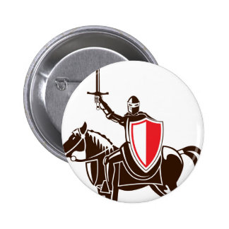 Knight on the horse vector button
