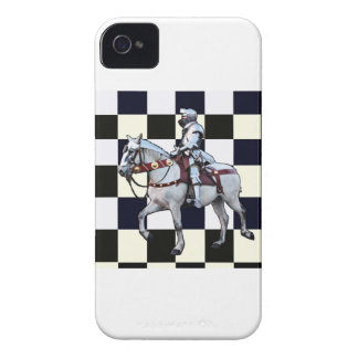 Knight on white horse with Chess board Case-Mate iPhone 4 Case