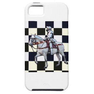 Knight on white horse with Chess board iPhone SE/5/5s Case
