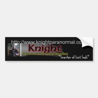 Knight Paranormal Investigation (KPI) Logo Bumper Sticker