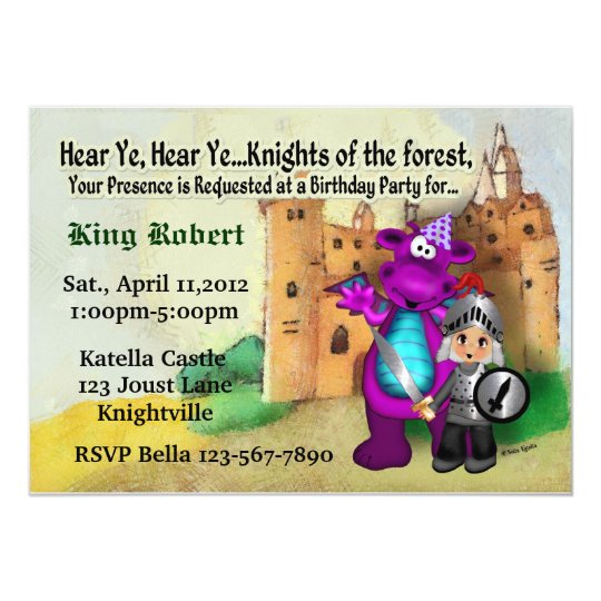 Knight Party Card