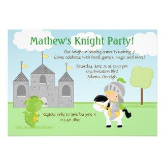 Knight Party Invitation