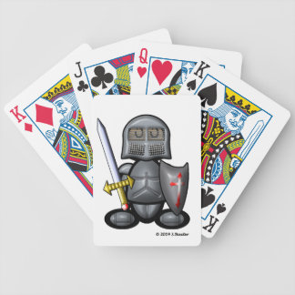 Knight (plain) bicycle playing cards