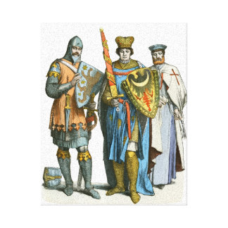 Knight, Prince and Templar - Period Costumes Canvas Print
