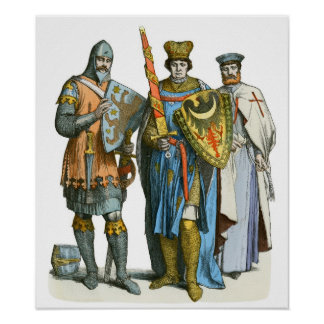 Knight, Prince and Templar - Period Costumes Poster