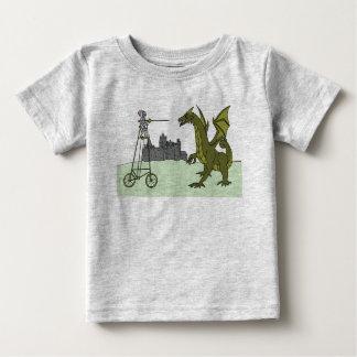 Knight Riding A Tall Bike Slaying A Dragon Baby T-Shirt